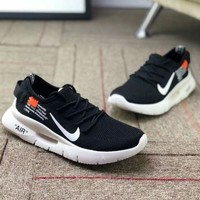 NIKE AIR MAX 87 OG & OFF-WHITE Joint Series Comfortable Breathable Running Shoes F-CSXY black
