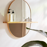 Ivette Rounded Mirror Shelf | Urban Outfitters