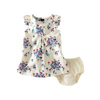 Baby Girl Dress & Floral Ruffle Dress   Tea Collection