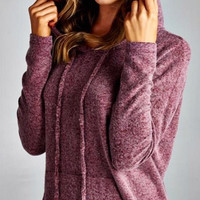 Soft and Cozy Hoodie - Wine