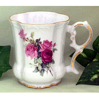 Set of 2 Olympia Rose Victorian Tankards Floral Mugs