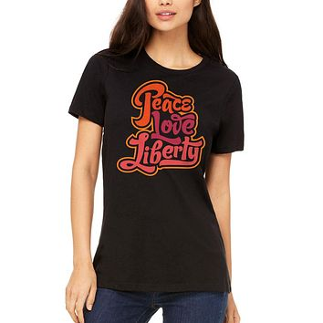 Peace Love Liberty Women's Relaxed T-Shirt