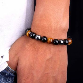 Gemstone Bead Health Bracelet