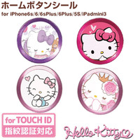 Phone Home Button Round Mobile hello kitty Sticker for iPhone 6 6s plus fingerprint identification for iPad 2 3 Touch Key paster