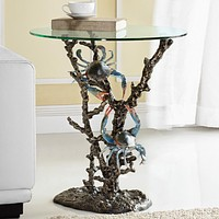 SPI Coral and Crab Decorative End Table