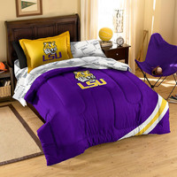 LSU Tigers NCAA Bed in a Bag (Contrast Series)(Twin)