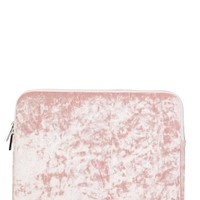 "Pink Crushed Velvet 15"" Laptop Case"