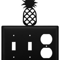 Wrought Iron Pineapple Double Switch & Single Outlet Cover