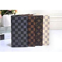 LV  Louis Vuitton Fashion Women Men Print Purse Wallet(4-Color) I