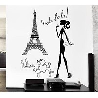 Wall Stickers Hot Sexy Woman Paris France Europe Art Mural Vinyl Decal Unique Gift (ig1944)