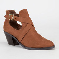 Soda Tidy Womens Boots Chestnut  In Sizes
