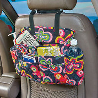 2 Pc Quilted Auto/Car Seat & Dashboard Storage Organizer Multi Pocket Butterfly