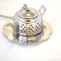 Mini Tea Pot Tea Strainer, Tea Infuser, Tea Party Favor, Tea Favor, Wedding Favor, Bridal Shower Tea, Tea Party Theme, Unique Christmas gift
