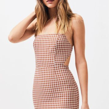 Lottie Moss Halter Open Back Mini Dress | PacSun