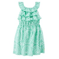 Carter's Ruffled Medallion Dress - Toddler Girl, Size: