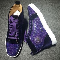 DCCK2 Cl Christian Louboutin Rhinestone Style #1934 Sneakers Fashion Shoes