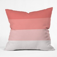 Shannon Clark Pink Stripe Ombre Throw Pillow
