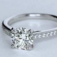2.08ct G-SI1 Platinum Round Diamond Engagement Ring JEWELFORME BLUE GIA certified