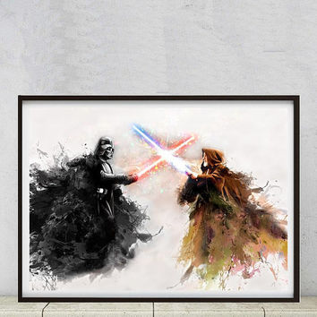 Star wars retro ? No, poster art painting print  illustration