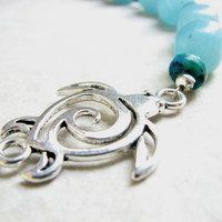 Chunky Beaded Sea Turtle Necklace