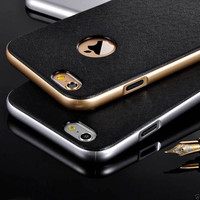 For iphone 6 6S 6 plus 6S plus New fashion luxury Elegant Rubber Hybrid Shockproof Hard Bumper Case Slim Cover for iphone 5 5S
