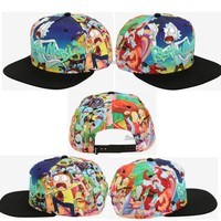 Licensed cool Rick And Morty All Over Sublimation Snapback Hat Cartoon Network Adult Swim NWT