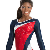Sporty Asymmetric Competition Leotard from GK Elite