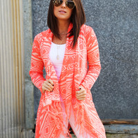 Some Kind Of Day Cardi {Neon Orange}