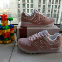 """New Balance"" Fashion Casual All-match N Words Breathable Female Sneakers Running Shoes"