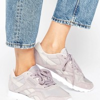 Reebok Classic Nylon X Face Sneakers In Lilac Gray at asos.com