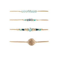 Sunburst Beaded Bracelet Set