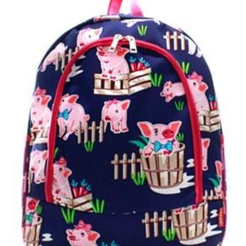 Pig Print Backpack - 2 Color Choices