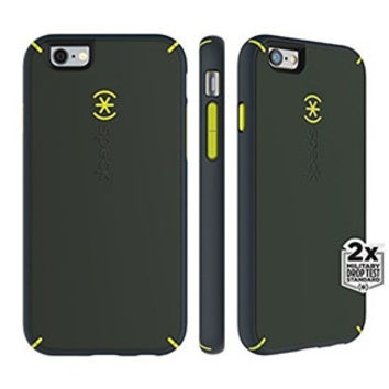 Speck MightyShell iPhone 6/6s Plus Case, Dusty Green/Antifreeze Yellow/Grey