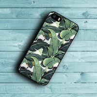 Classic Tropical Banana Leaves Print Cover  For iPhone 6 6 Plus