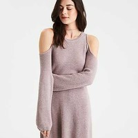AE Ahh-Mazingly Soft Cold Shoulder Sweater Dress, Rose
