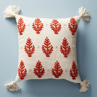 Embroidered Rue Pillow