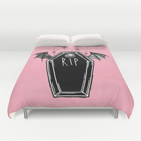 Creepy Coffins Duvet Cover by lOll3   Society6