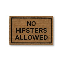 No Hipsters Allowed Coir Doormat