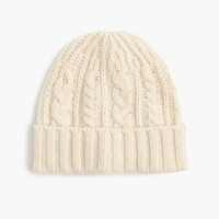 J.Crew Mens Lambswool Cable-Knit Hat