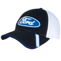 Ford - Oval Logo Racing Flags Adjustable Cap