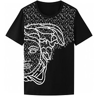 Versace classic personality Medusa pattern T-shirt fashion men and women round neck short-sleeved tops
