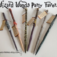 6 Pack of Wizard Wand Favors for Harry Potter Party Plus Digital Book