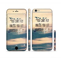 The Pastel Sunset You Cant Fly Unless You Let Yourself Fall Sectioned Skin Series for the Apple iPhone 6
