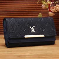 Lv Women Shopping Fashion Leather Buckle Wallet Purse-9