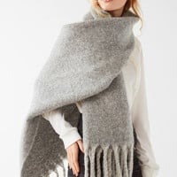 Nubby Contrast Fringe Woven Scarf | Urban Outfitters