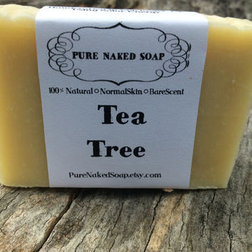 Tea Tree Soap, oily skin, invigorating, artisan soap, normal - oily skin, handcrafted, cleansing, shower, bath