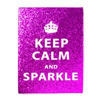 Keep Calm and Sparkle Glitter Wall Canvas | Icing