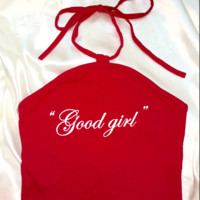SWEET LORD O'MIGHTY! GOOD GIRL HALTER IN RED