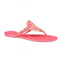 Jack Rogers Georgica Jelly Sandal- Pink and Gold
