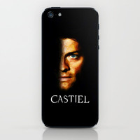 Castiel / Supernatural - Painting Style iPhone & iPod Skin by ElvisTR